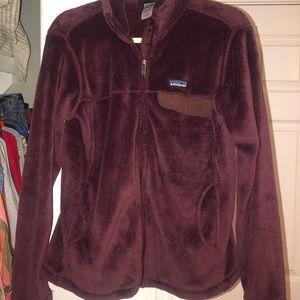 Purple zip up jacket